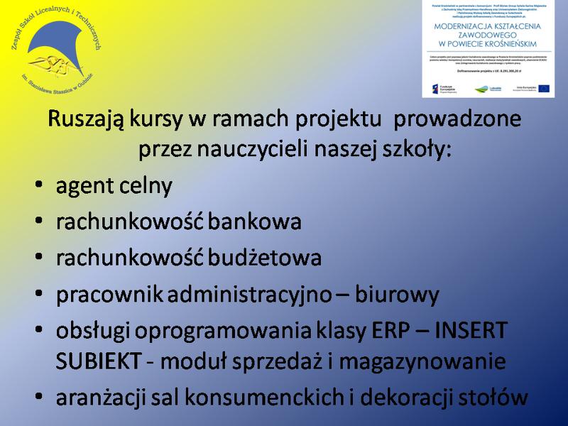 Kursy ZSLiT1